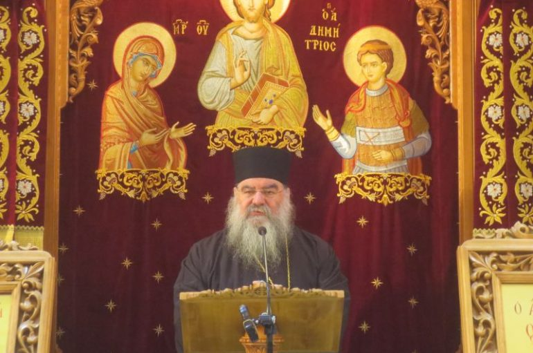 Ομιλία του Μητροπολίτη Λεμεσού στον Ι. Ν. Αγίου Δημητρίου Μπραχαμίου (ΦΩΤΟ)