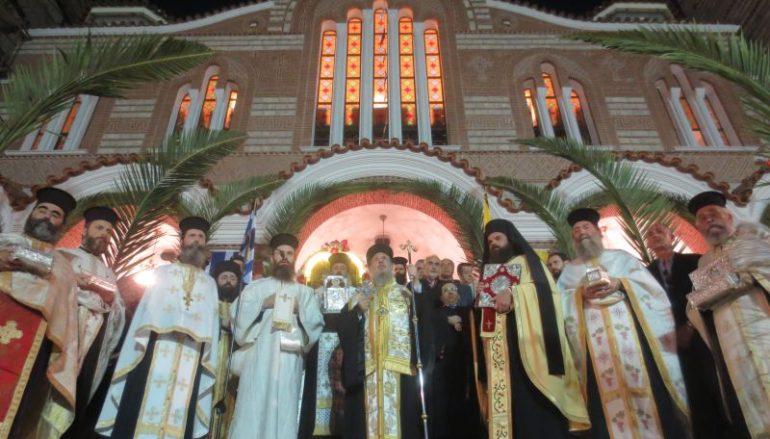Μεθέορτος Αρχιερατικός Εσπερινός και Λιτανεία στον Άγιο Δημήτριο Μπραχαμίου (ΦΩΤΟ)