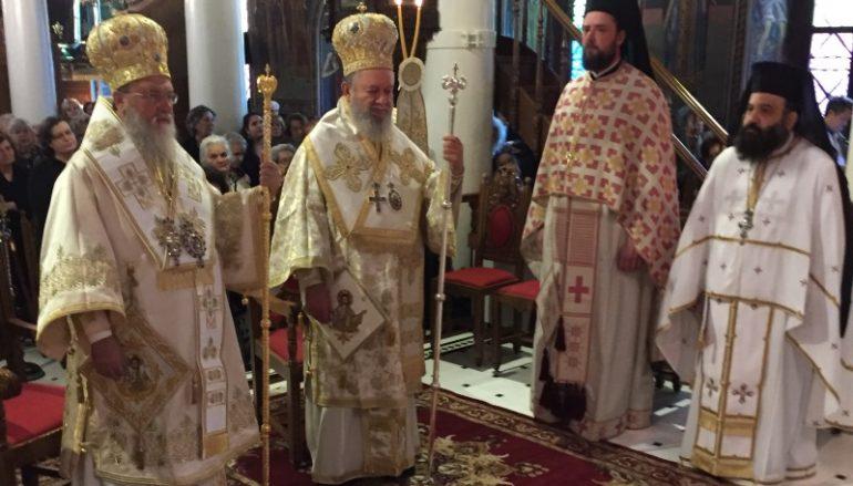 Δισαρχιερατική Θεία Λειτουργία στον Ι. Ν. Αγίου Δημητρίου Χαλκίδος (ΦΩΤΟ)