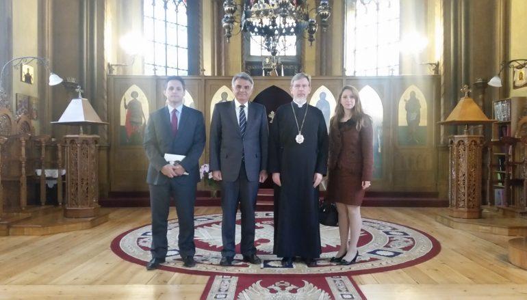 Συνάντηση του Μητροπολίτη Σουηδίας με την νέα Ελληνική Πρεσβεία