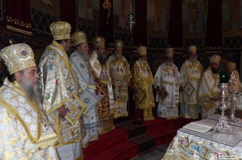 Πλειάδα Αρχιερέων στα ονομαστήρια του Μητροπολίτη Κορίνθου (ΦΩΤΟ)
