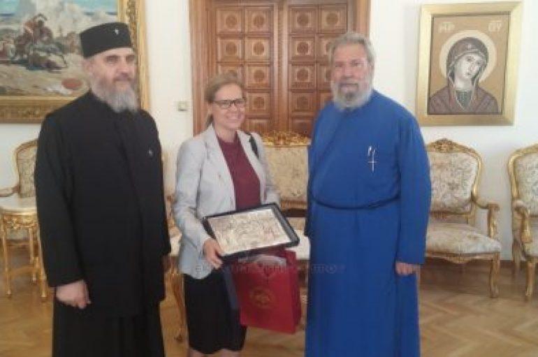 Επίσκεψη της νέας Πρέσβηρας της Σουηδίας στον Αρχιεπίσκοπο Κύπρου