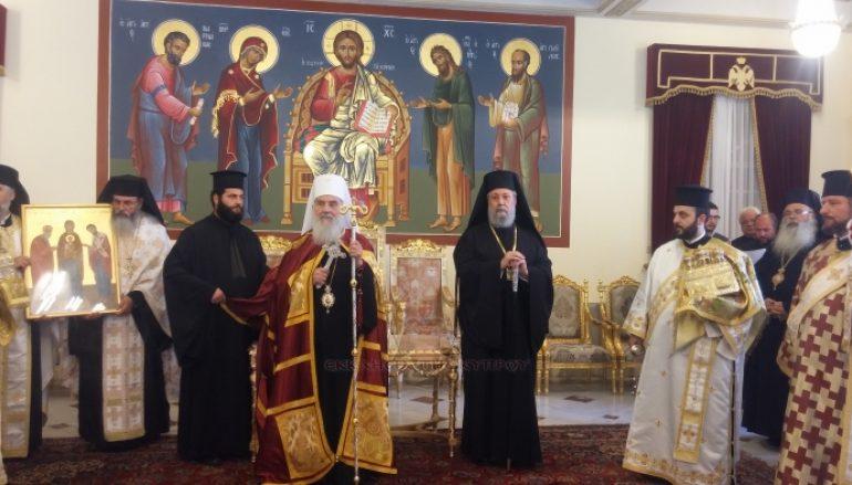 Ο Πατριάρχης Σερβίας στην Εκκλησία της Κύπρου (ΦΩΤΟ-ΒΙΝΤΕΟ)