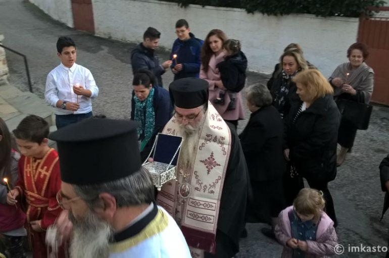 Υποδοχή Ιερού Λειψάνου του Αγίου Γεωργίου στη Γέρμα Καστοριάς (ΦΩΤΟ)