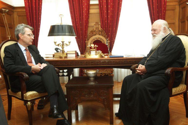 Οι πρέσβεις Αρμενίας και Η.Π.Α. στον Αρχιεπίσκοπο Ιερώνυμο (ΦΩΤΟ)