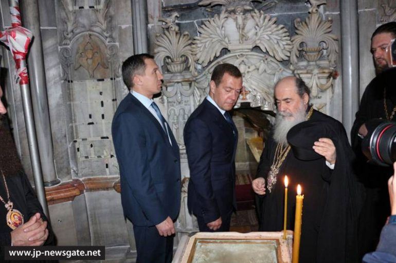 O Πρωθυπουργός της Ρωσίας επισκέφθηκε το Ναό της Αναστάσεως (ΦΩΤΟ-ΒΙΝΤΕΟ)