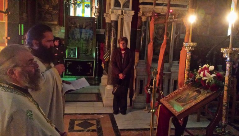 Αγρυπνία για τον Άγιο Γεώργιο Καρσλίδη στην Ι. Μ. Μαντινείας (ΦΩΤΟ)