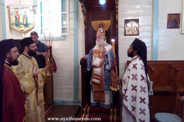 Πατριαρχική Θεία Λειτουργία των Αγίων Αναργύρων στο Αμπού Κιρ Αλεξάνδρειας (ΦΩΤΟ)