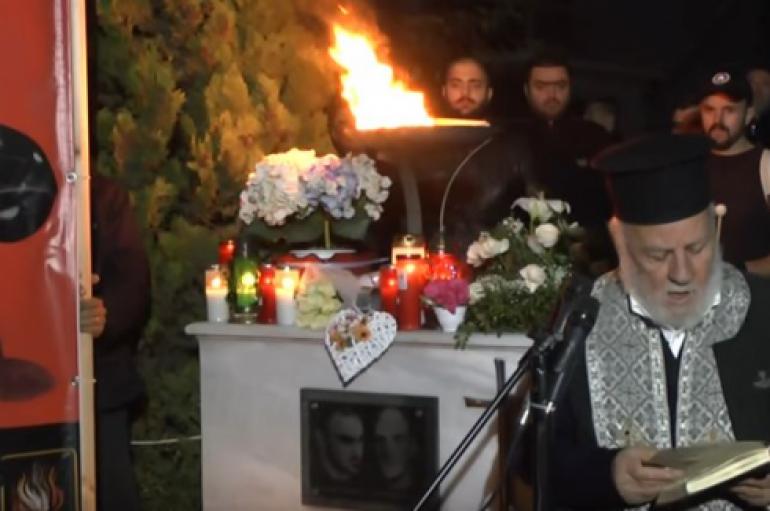 Ιερέας προσεύχεται για τον «θεάρεστο αγώνα» της Xρυσής Aυγής (ΒΙΝΤΕΟ)