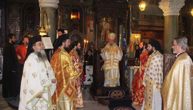 Αγρυπνία για την εορτή του Αγ. Ανδρέα στη Λάρισα (ΦΩΤΟ)