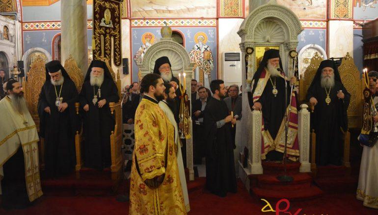 Στη Σπάρτη ο Αρχιεπίσκοπος Ιερώνυμος για τον εορτασμό του Οσίου Νίκωνος (ΦΩΤΟ)