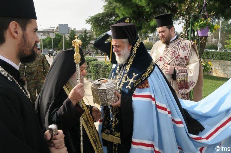 Υποδοχή της Τίμιας Κάρας του Αγίου Παντελεήμονος στο 401 Γ. Σ. Ν. Αθηνών (ΦΩΤΟ)