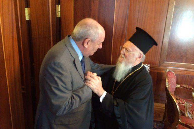 O Υφυπουργός Εξωτερικών Τέρενς Κουίκ στον Οικουμενικό Πατριάρχη (ΦΩΤΟ)