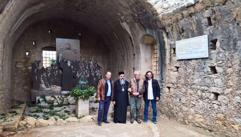 Εικαστικό έργο αναπαράστασης του ολοκαυτώματος της Ι. Μονής Αρκαδίου (ΦΩΤΟ)