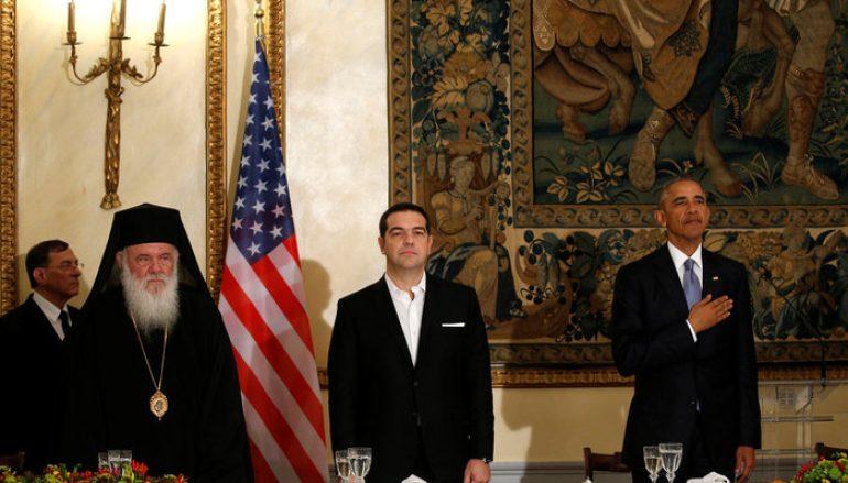 Ο Αρχιεπίσκοπος Αθηνών στο επίσημο δείπνο με τον Πρόεδρο των Η.Π.Α. (ΦΩΤΟ)