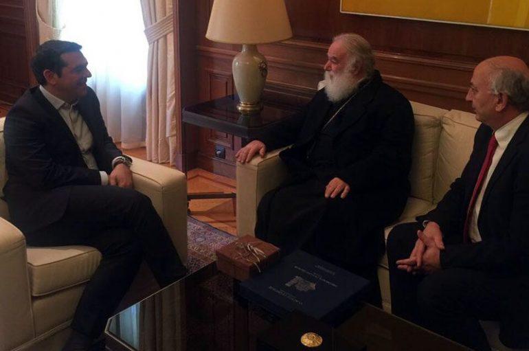 Συνάντηση του Πατριάρχη Αλεξανδρείας με τον Πρωθυπουργό της Ελλάδας (ΦΩΤΟ)