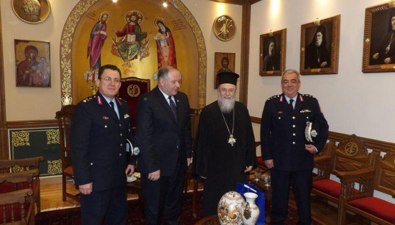 Ο Αρχηγός της Ελληνικής Αστυνομίας στον Μητροπολίτη Κορίνθου (ΦΩΤΟ)