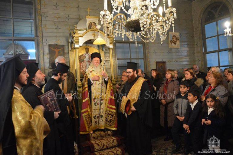 Ο Οικ. Πατριάρχης στην Σκήτη του Αγίου Σπυρίδωνος Χάλκης (ΦΩΤΟ)
