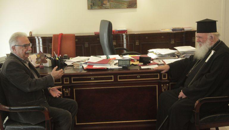 Συνάντηση Αρχιεπισκόπου Αθηνών με τον Υπουργό Παιδείας (ΦΩΤΟ)