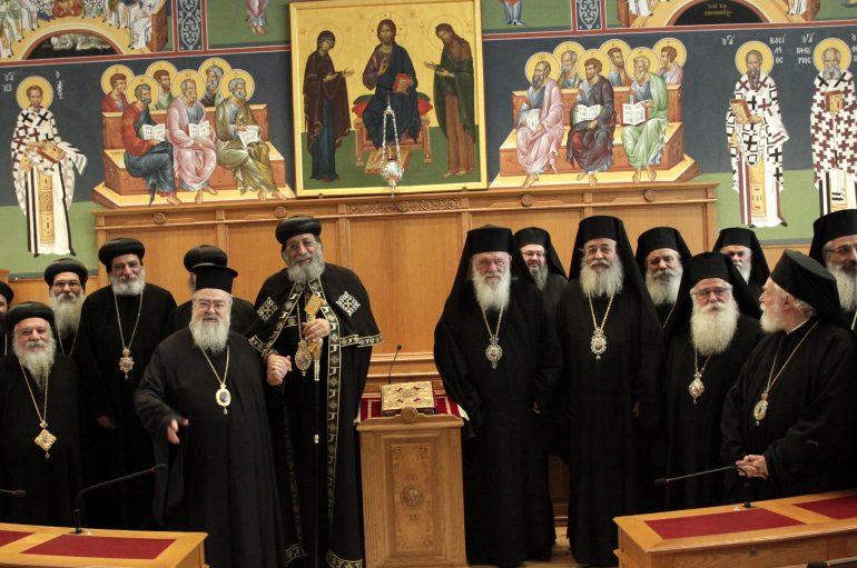 Ο Κόπτης Πατριάρχης στην Ιερά Σύνοδο (ΦΩΤΟ)