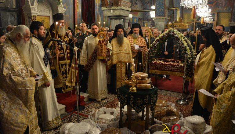 Αρχιερατικός εσπερινός για τον Άγιο Σπυρίδωνα στη Σπάρτη (ΦΩΤΟ)