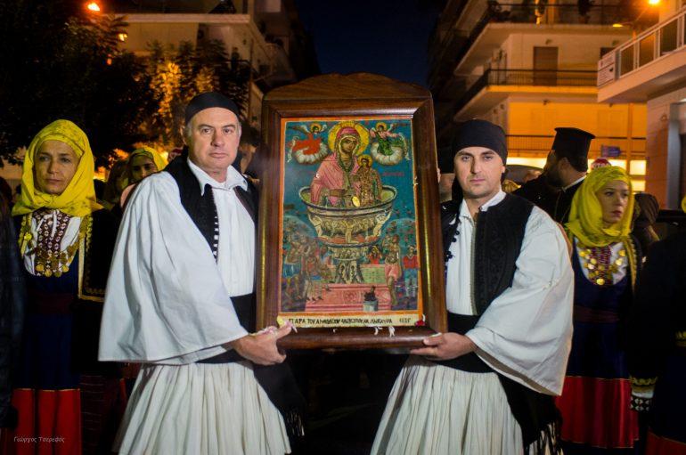 Η Καλαμάτα υποδέχτηκε την Ιερά Εικόνα Ζωοδόχου Πηγής Σγράπας (ΦΩΤΟ)