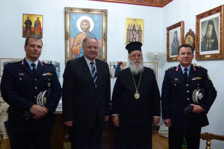 Ο Αρχηγός της Ελληνικής Αστυνομίας στον Μητροπολίτη Μαντινείας (ΦΩΤΟ)