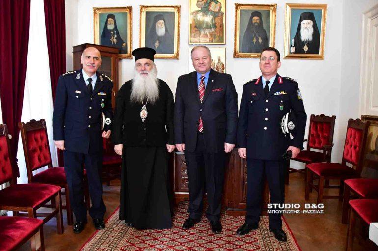 Ο Αρχηγός της Ελληνικής Αστυνομίας στο Μητροπολίτη Αργολίδος (ΦΩΤΟ)
