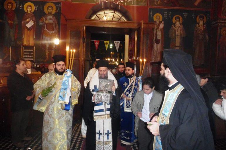 Υποδοχή της τιμίας κάρας του Αγίου Τρύφωνος στην Καρδίτσα (ΦΩΤΟ)