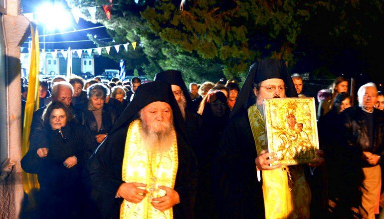 Λαμπρή υποδοχή της Παναγίας του Βουλκάνου στο Μερκοβούνι Τρίπολης (ΦΩΤΟ)