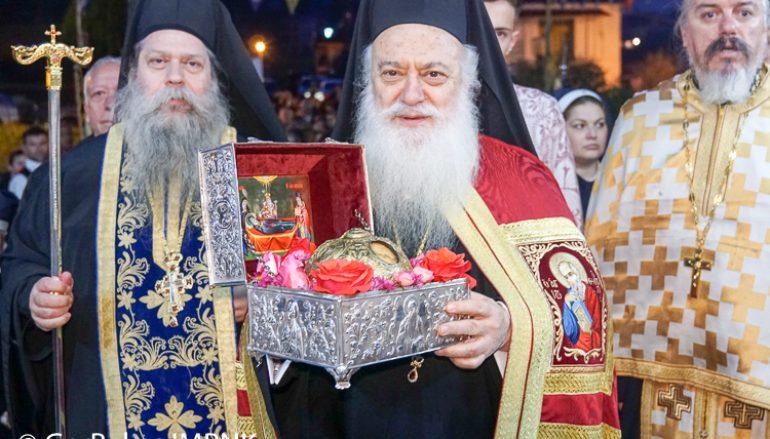 H Βέροια υποδέχθηκε την Τίμια Κάρα του οσίου Δαβίδ (ΦΩΤΟ)