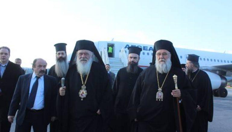 Ο Αρχιεπίσκοπος Αθηνών αφίχθη στην Κέρκυρα (ΦΩΤΟ)