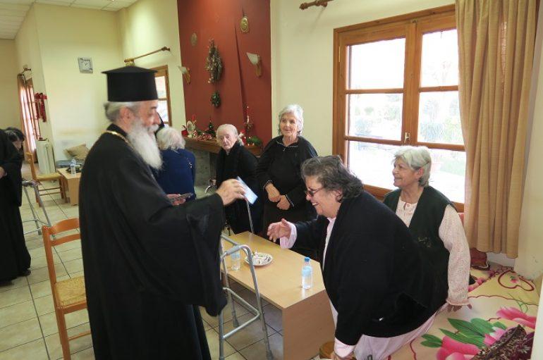 Επίσκεψη του Μητροπολίτη Φθιώτιδος στο Γηροκομείο Σπερχειάδος (ΦΩΤΟ)