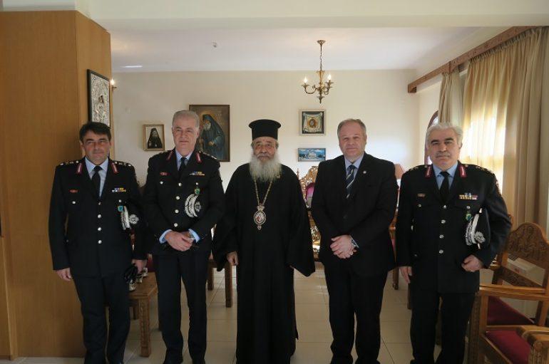 Επίσκεψη του Αρχηγού της Ελληνικής Αστυνομίας στον Μητροπολίτη Φθιώτιδος (ΦΩΤΟ)