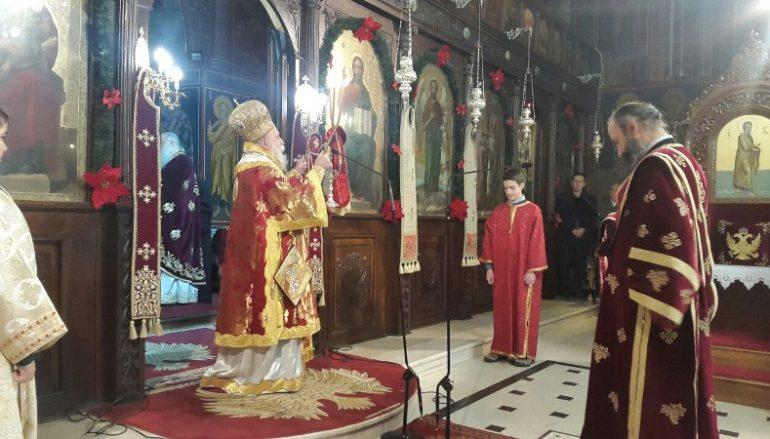 Χριστουγεννιάτικη Θ. Λειτουργία στο Μητροπολιτικό Ι. Ναό Γρεβενών (ΦΩΤΟ)