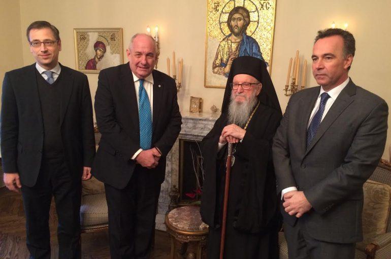 Συνάντηση του Υφ. Εξωτερικών Τέρενς Κουίκ με τον Αρχιεπίσκοπο Αμερικής(ΦΩΤΟ)
