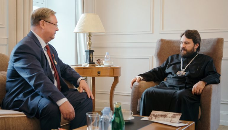 Συνάντηση Μητροπολίτη Βολοκολάμσκ με τον Πρόεδρο της ΑΟΠΕ Σ. Στεπάσιν (ΦΩΤΟ)