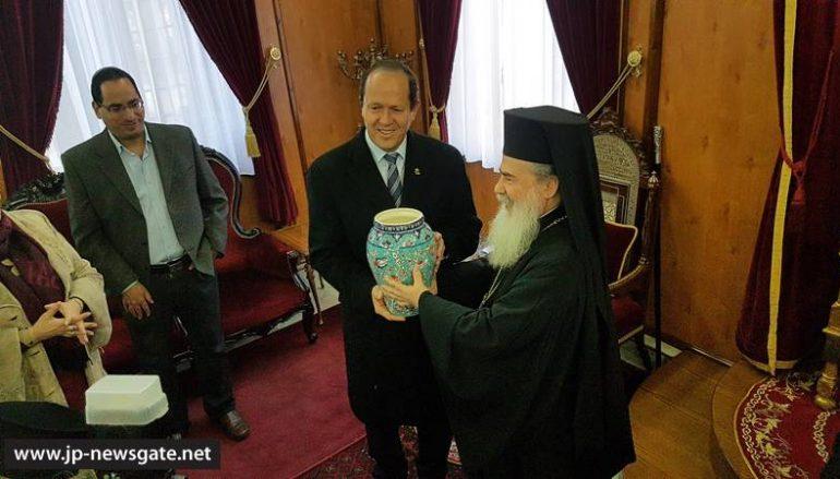 Ο Δήμαρχος Ιεροσολύμων επισκέφθηκε τον οικείο Πατριάρχη (ΦΩΤΟ)