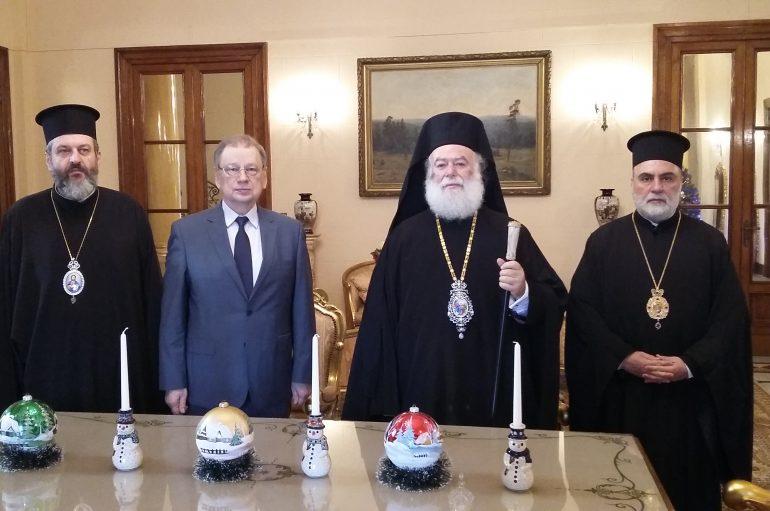Σημαντικές συναντήσεις του Πατριάρχη Αλεξανδρείας στο Κάιρο (ΦΩΤΟ)