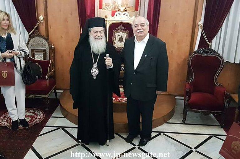 Ο Πρόεδρος της Ελληνικής Βουλής στον Πατριάρχη Ιεροσολύμων (ΦΩΤΟ – ΒΙΝΤΕΟ)
