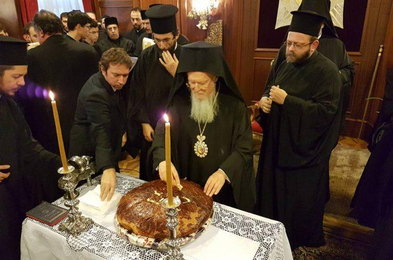 Ο Οικ. Πατριάρχης ευλόγησε τη Βασιλόπιτα στο Φανάρι (ΦΩΤΟ)