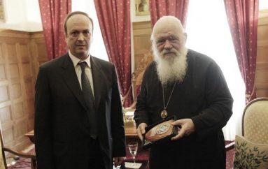Στελέχη της Δίωξης Εγκλημάτων επισκέφθηκαν τον Αρχιεπίσκοπο Ιερώνυμο (ΦΩΤΟ)