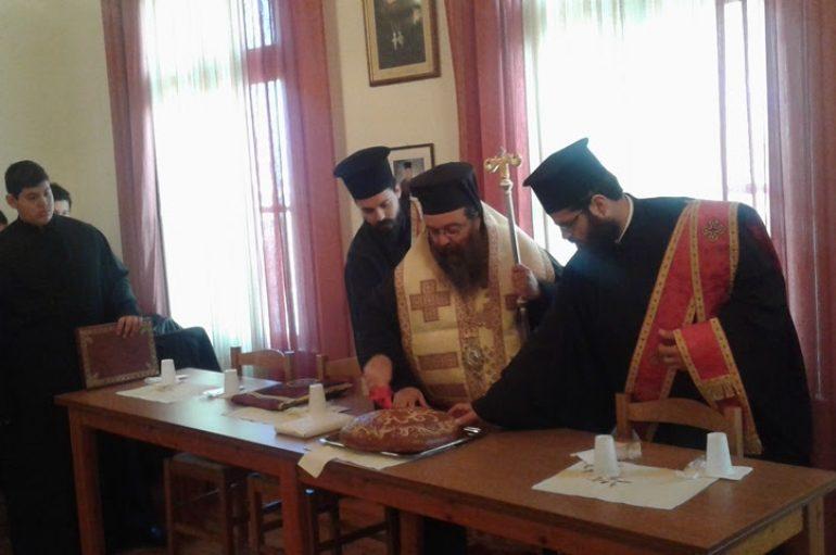 Ο Μητροπολίτης Χίου ευλόγησε τη Βασιλόπιτα των Αναγνωστών (ΦΩΤΟ)