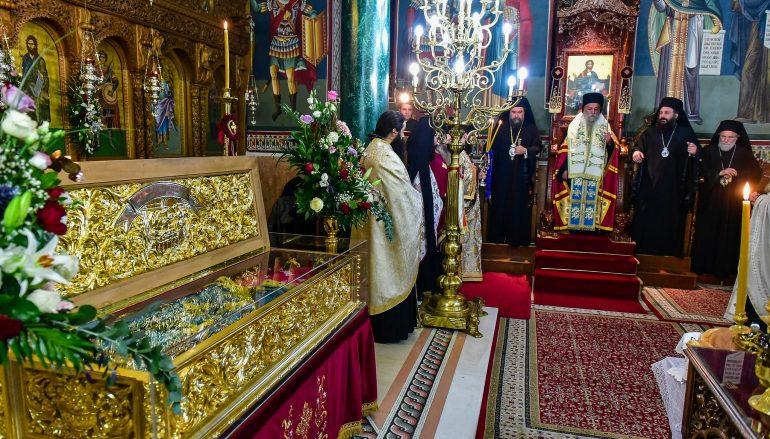 Πολυαρχιερατικός εσπερινός επί τη μνήμη της Αγ. Νεομάρτυρος Κυράννης της Οσσαίας (ΦΩΤΟ)