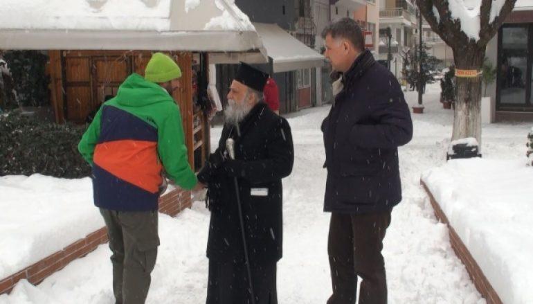 """Μητροπολίτης Γρεβενών: """"Το χιόνι είναι ευλογία φτάνει να προσέχουμε"""" (ΒΙΝΤΕΟ)"""