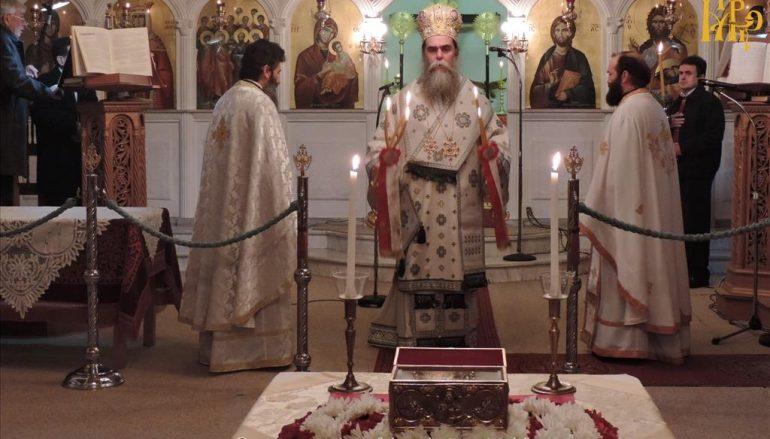 Η μνήμη του Αγίου Αθανασίου στην Μητρόπολη Άρτης (ΦΩΤΟ)