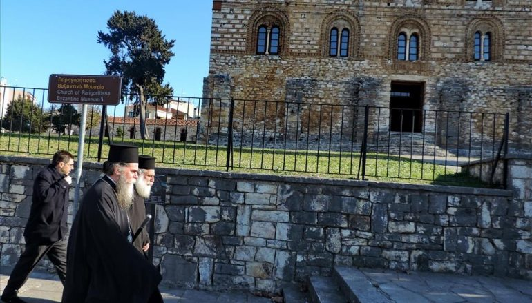 Επίσκεψη του Μητροπολίτη Άρτης στον βυζαντινό ναό της Παρηγορήτριας (ΦΩΤΟ)