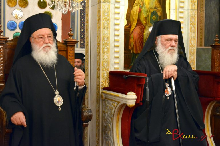 Ο Αρχιεπίσκοπος στην παρουσίαση του νέου βιβλίου του Μητροπολίτη Μαντινείας (ΦΩΤΟ-BINTEO)