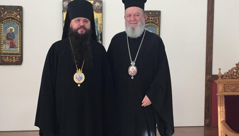 Επίσκεψη Ρώσου Επισκόπου στον Μητροπολίτη Χαλκίδος (ΦΩΤΟ)