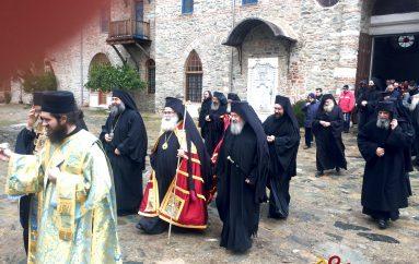Οι Μητροπολίτες Κυδωνίας και Ιεραπύτνης στην Ιερά Μονή Ιβήρων (ΦΩΤΟ)